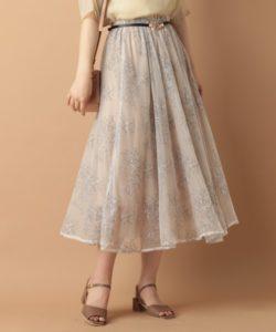 mysty woman/チュールレース花柄スカート